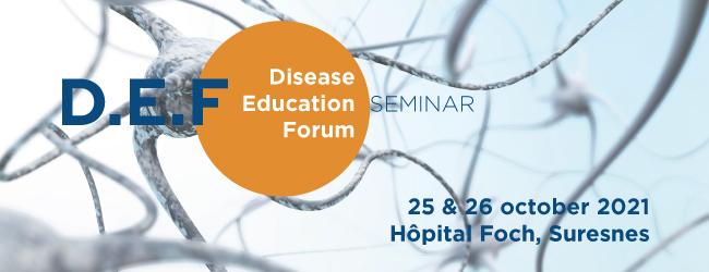 D.E.F, Disease Education Forum Seminar, May 3,4, 2021